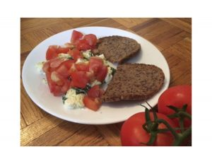 Greek Style Scrambled Eggs